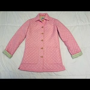 Vintage Lilly Pulitzer pink quilted coat XS